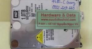 Khôi phục dữ liệu ổ cứng Western hỏng