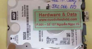 Cứu dữ liệu ổ cứng Western hỏng 1/2 đầu từ