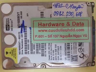 Cứu dữ liệu ổ cứng Western hỏng đầu từ