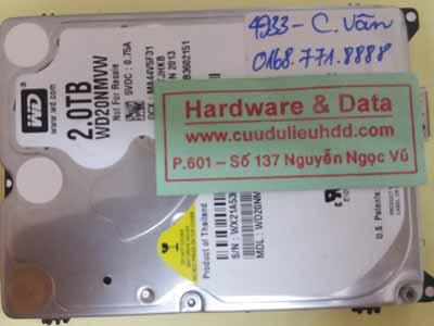 khôi phục dữ liệu WD20NMVW