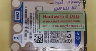 Phục hồi dữ liệu ổ cứng Western hỏng 1/4 đầu từ
