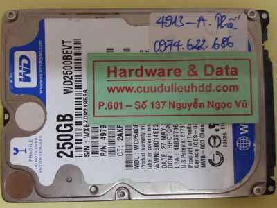 Khôi phục dữ liệu WD2500BEVT