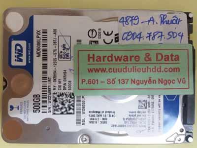 Phục hồi dữ liệu ổ cứng WD5000LPVX