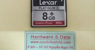 Cứu dữ liệu thẻ nhớ lexar bị format