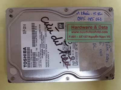Lấy lại dữ liệu ổ cứng DT01ACA050