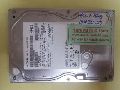 khôi phục dữ liệu ổ cứng HDS721016CLA382