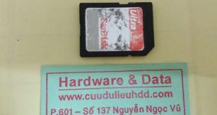 lấy lại dữ liệu thẻ nhớ Sandisk 32Gb