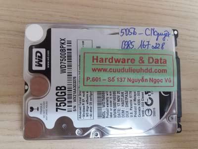 phục hồi dữ liệu WD7500BPKX