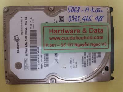Phục hồi dữ liệu ổ cứng Seagate 160GB