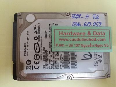 Khôi phục dữ liệu Hitachi 250GB