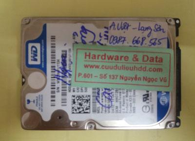 khôi phục dữ liệu WD500BPVT