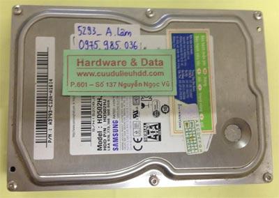 Lấy lại dữ liệu ổ cứng Samsung 500GB