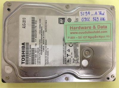 Phục hồi dữ liệu ổ cứng Toshiba 500GB