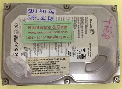 Phục hồi dữ liệu ổ cứng Seagate 80GB