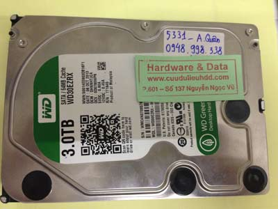 Cứu dữ liệu ổ cứng Western 3TB lỗi đầu từ