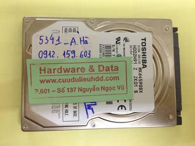 Lấy lại dữ liệu ổ cứng Toshiba 640GB chết cơ