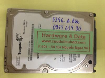 Cứu dữ liệu ổ cứng Seagate 320GB lỗi đầu từ