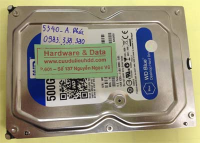 Cứu dữ liệu ổ cứng Western 500GB Ghost nhầm ổ D mất dữ liệu