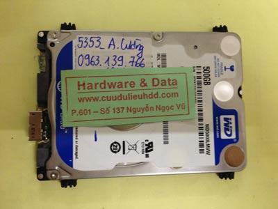 Phục hồi dữ liệu ổ cứng Western 500GB lỗi đầu từ