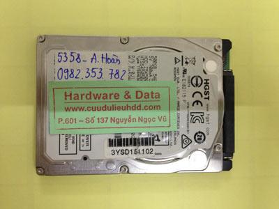 Cứu dữ liệu cho ổ cứng Hitachi 500GB lỗi đầu đọc