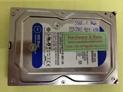 Lấy lại dữ liệu ổ cứng Western 500GB bị bad nặng