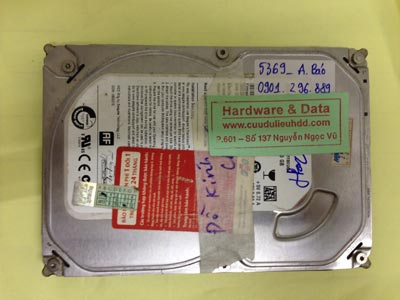 Lấy lại dữ liệu ổ cứng Seagate 250GB chết cơ