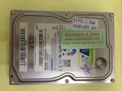 Cứu dữ liệu ổ cứng Samsung 500GB