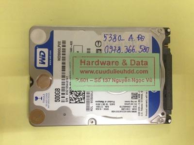 Cứu dữ liệu ổ cứng Western 500GB