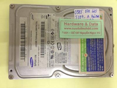 Cứu dữ liệu ổ cứng Samsung 40GB