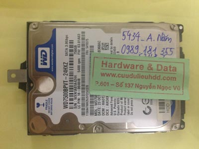 Cứu dữ liệu ổ cứng Western 750GB