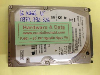 Phục hồi dữ liệu ổ cứng Seagate 320GB lỗi đầu đọc