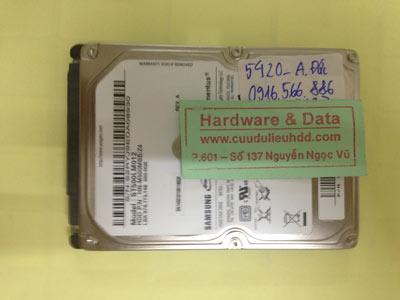 Lấy lại dữ liệu ổ cứng Seagate 500GB hỏng đầu từ