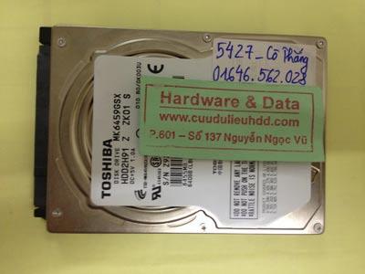 Cứu dữ liệu ổ cứng Toshiba 640GB lỗi đầu từ