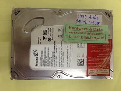 Cứu dữ liệu ổ cứng Seagate 500GB chết cơ, đĩa kém