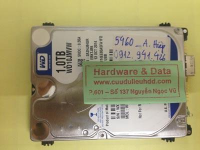 Cứu dữ liệu ổ cứng Western 1TB lỗi đầu từ