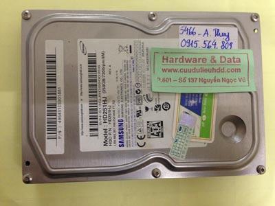 Khôi phục dữ liệu ổ cứng Samsung 250GB