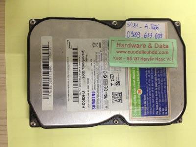 Phục dữ liệu ổ cứng Samsung 80GB bị Virus mã hóa mất dữ liệu