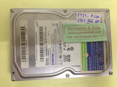 Cứu dữ liệu ổ cứng Samsung 80GB chết cơ