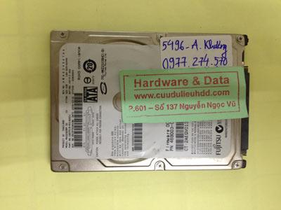 Cứu dữ liệu ổ cứng Fujitsu 320GB chết cơ
