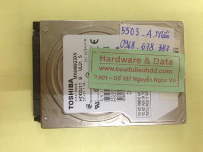 Cứu dữ liệu ổ cứng Toshiba 640GB