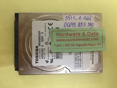 Khôi phục dữ liệu ổ cứng Toshiba 540GB