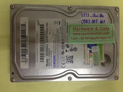 Khôi phục dữ liệu ổ cứng Samsung 500GB chết cơ