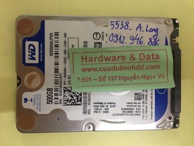 Khôi phục dữ liệu ổ cứng Western 500GB