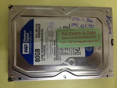 Phục hồi dữ liệu ổ cứng Western 80GB