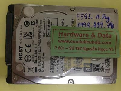 Cứu dữ liệu ổ cứng Hitachi 250GB đầu từ lỗi