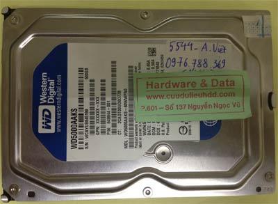 Lấy lại dữ liệu ổ cứng Western 500GB chết cơ