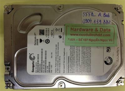 Lấy lại dữ liệu ổ cứng Seagate 2TB chết cơ