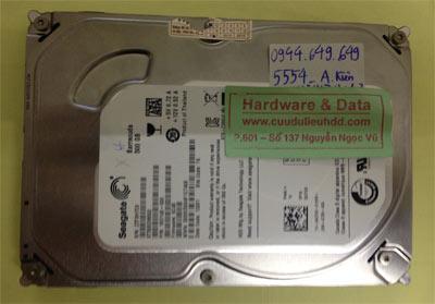 Cứu dữ liệu ổ cứng Seagate 500GB đầu từ lỗi