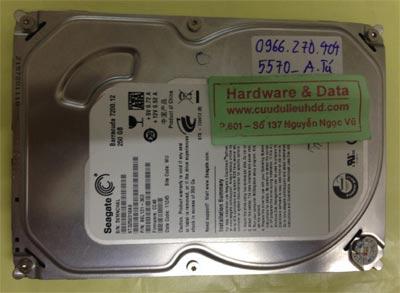 Khôi phục dữ liệu ổ cứng Seagate 250GB