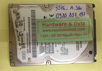 Cứu dữ liệu ổ cứng Seagate 500GB lỗi đầu từ